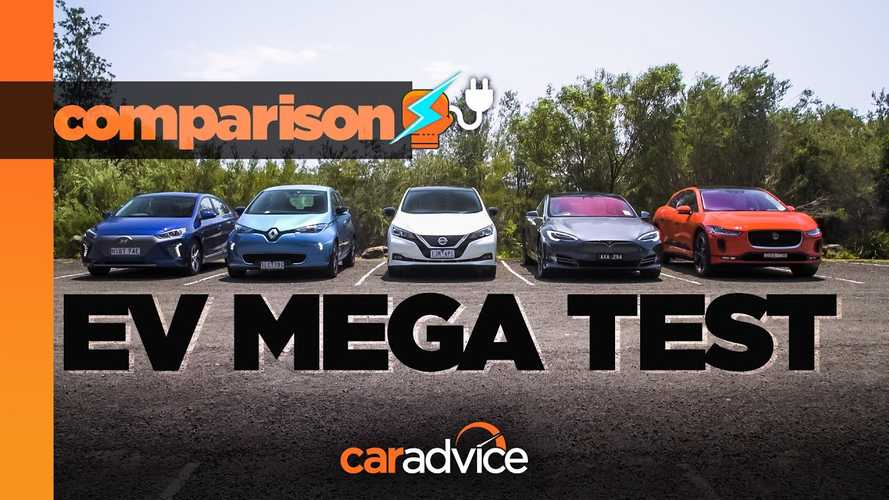 2019 EV Comparo: Model S, LEAF, I-Pace, Ioniq, Zoe (Mega-Test Video)