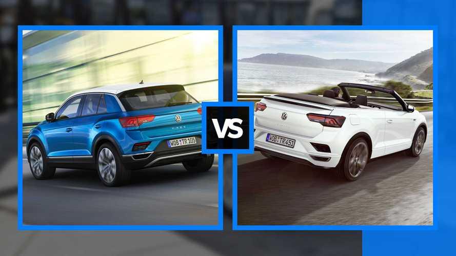 Volkswagen T-Roc vs T-Roc Cabriolet, sfida in famiglia