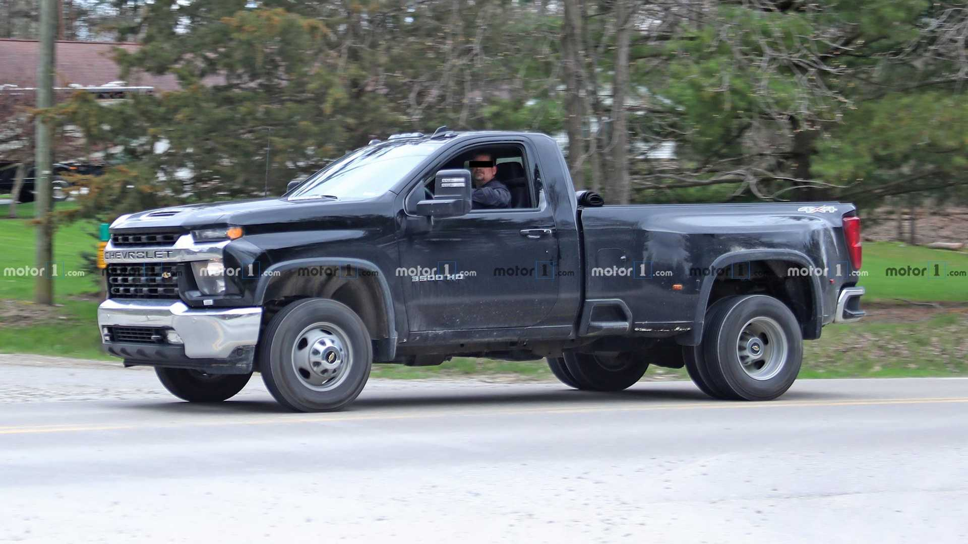 2020 Chevy Silverado HD Single Cab Dually Spied Fully