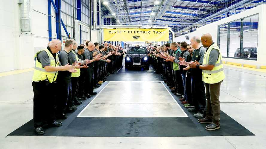 LEVC Produced 2,500 TX Plug-In Electric Black Cabs