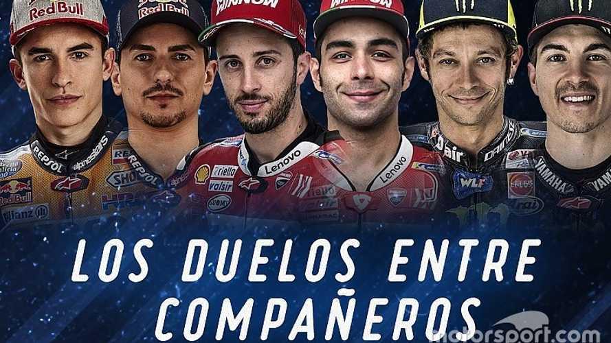Los duelos entre compañeros de MotoGP a mitad de temporada 2019