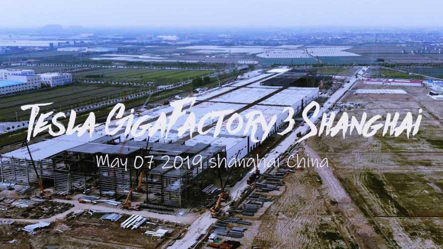 Tesla Gigafactory 3 Construction Progress (May 7, 2019): Video