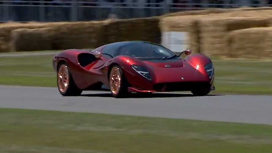 La sublime De Tomaso P72 en mouvement à Goodwood !