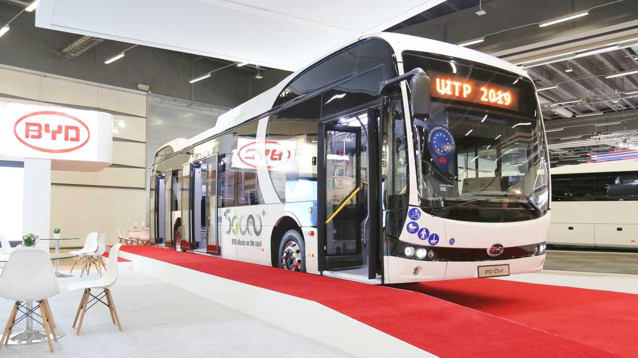 BYD electric bus at the UITP Summit 2019, in Stockholm