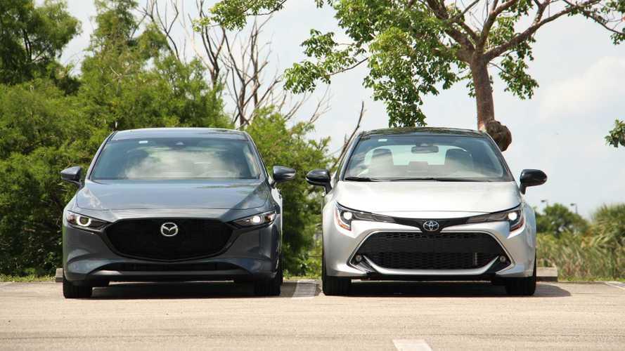 2020 mazda3 vs 2020 toyota corolla hatchback comparison