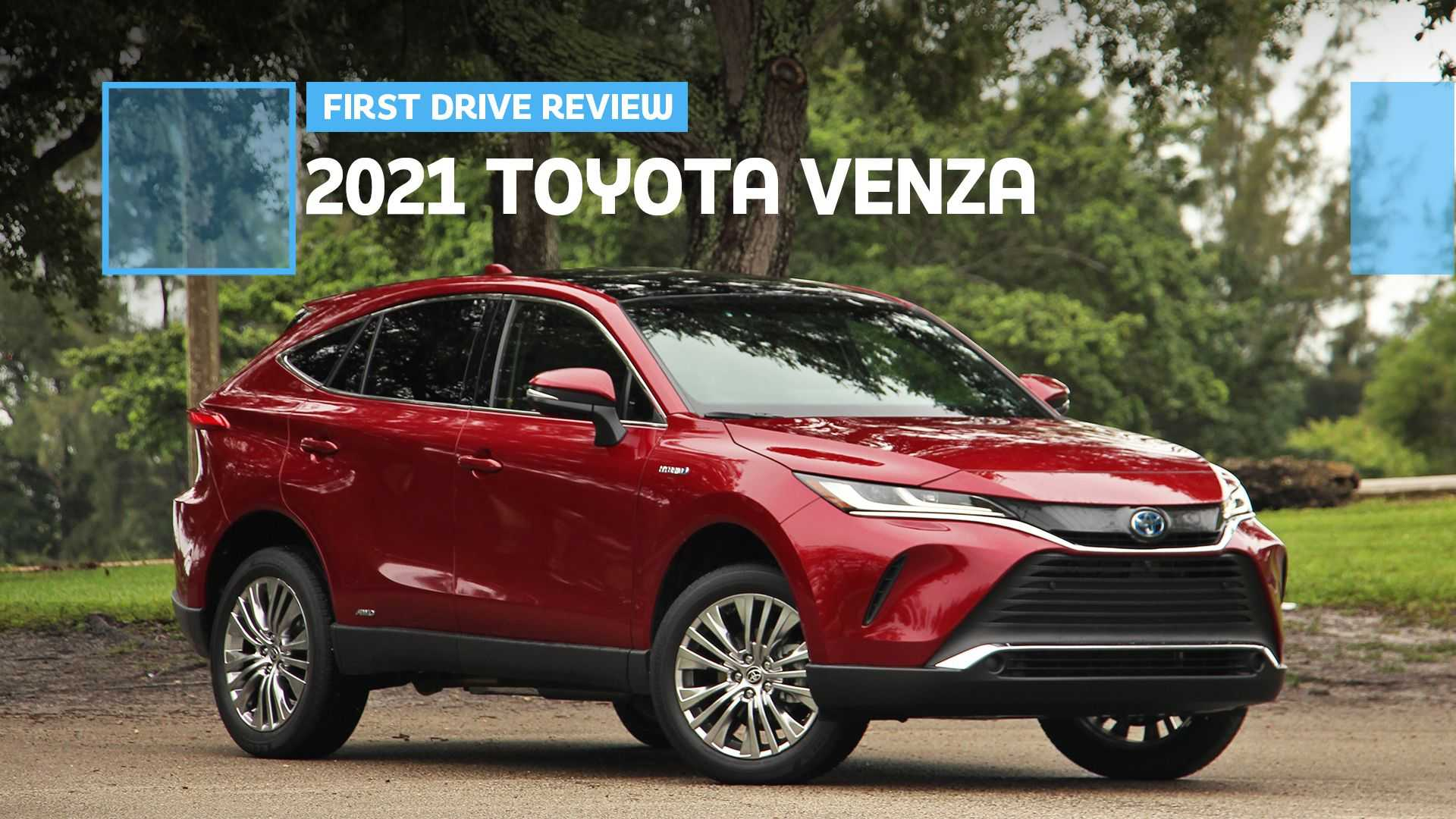 2021 toyota venza first drive review: lexus leaning