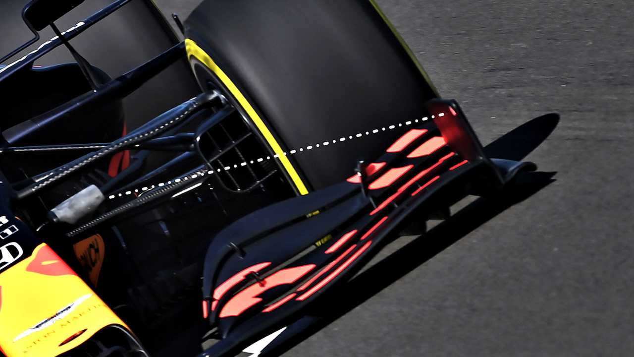 Red Bull Racing RB16 front wing detail