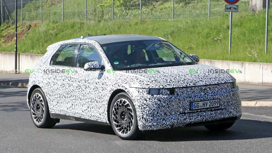UPDATE: Hyundai 45 Electric Crossover Sheds Some Camo In New Spy Photos