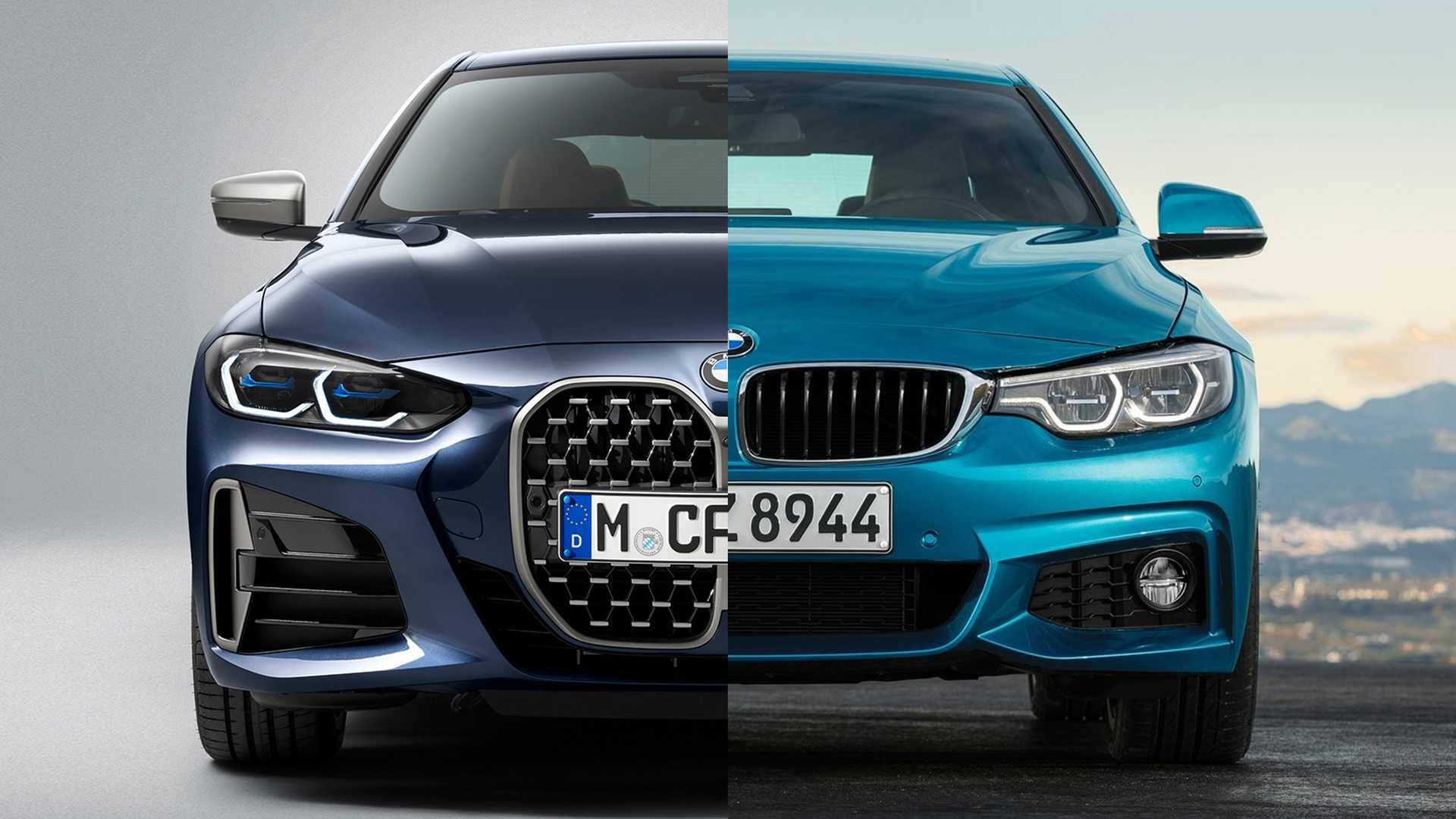 2021 bmw 4 series see the changes sideside