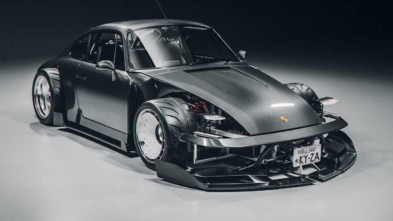 Porsche 911 964 renderkép