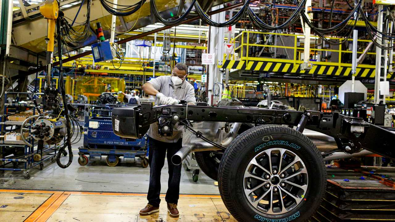 Ford'un Dearborn fabrikasından bir görsel.
