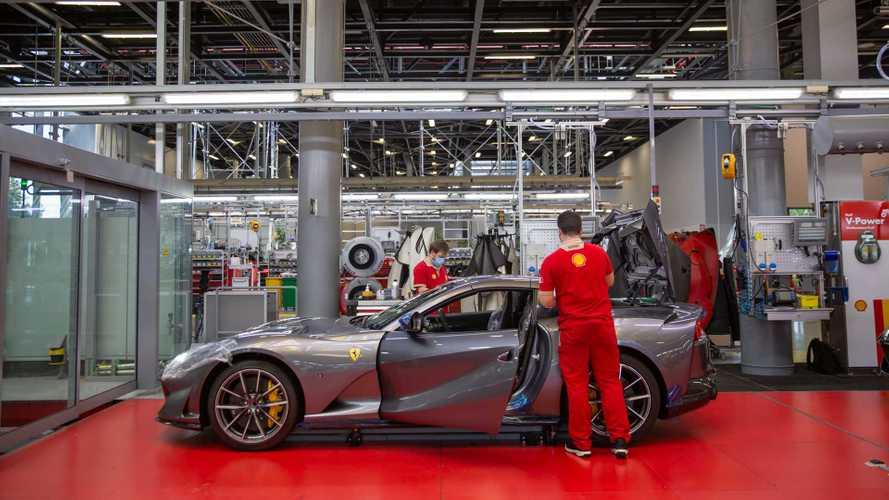 Ferrari, la produzione torna a pieno regime