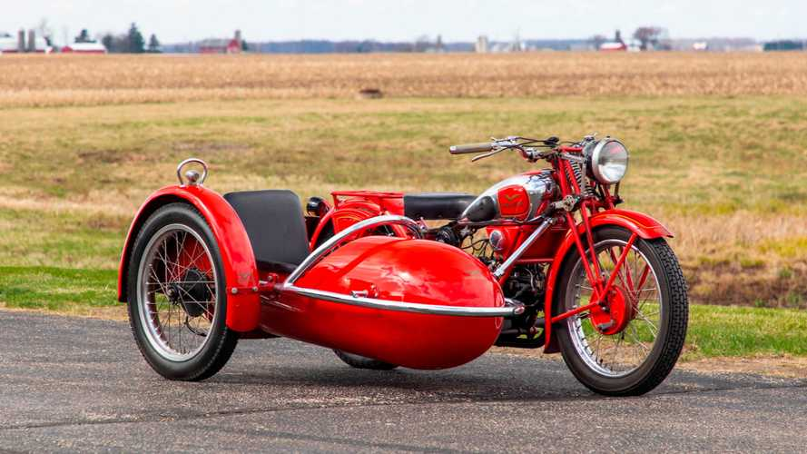 This 1937 Moto Guzzi Sidecar Rig Is Headed To Auction Soon