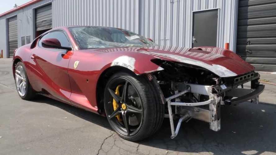 Da rottame a gioiello, la rinascita di una Ferrari 812 Superfast