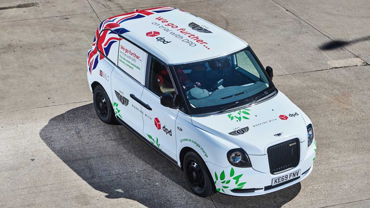 LEVC starts electric van trials with parcel delivery firm DPD using converted TX model