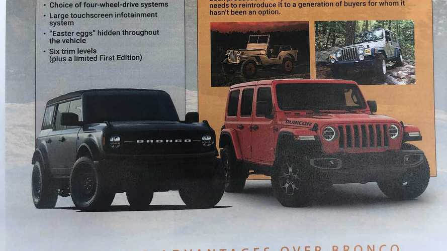 Check Out Jeep's Cheat Sheet For Proving Wrangler Beats Bronco