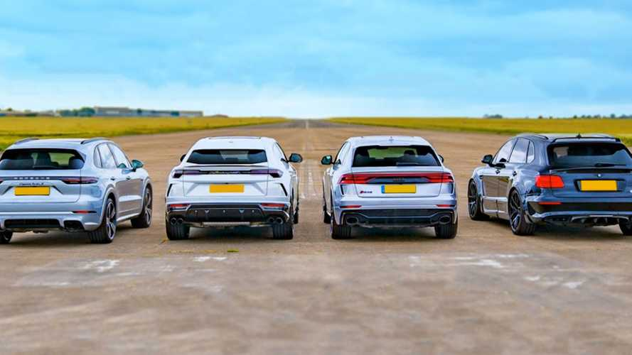 VW Group High-Performance SUVs Drag Race Ends In Photo Finish