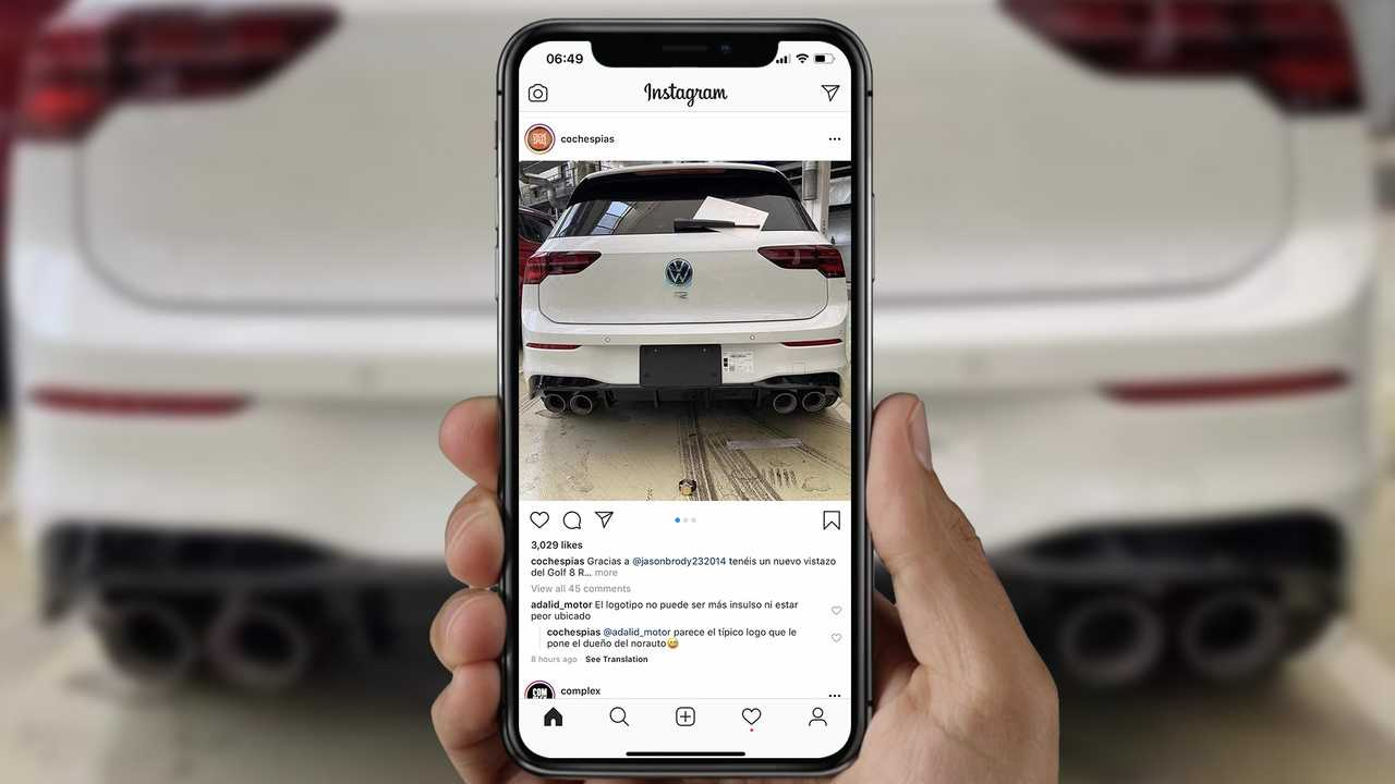 Volkswagen Golf R Leaked Photo Instagram Lead