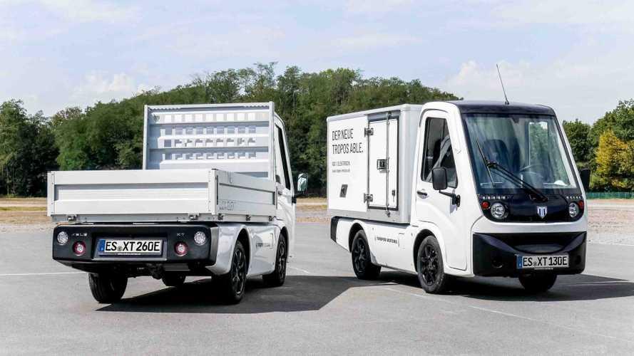 Tropos Able XT: Elektro-Transporter mit Pritsche oder Kofferaufbau
