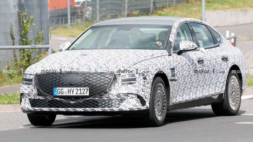 Genesis eG80 All-Electric Luxury Sedan Spied Near The Nurburgring