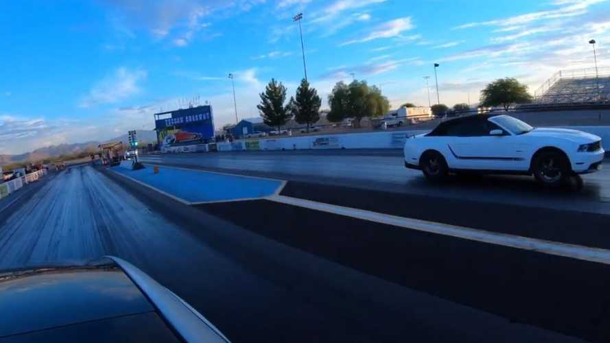 Watch Tesla Model 3 Performance Crush Supercharged Ford Mustang In Drag Race