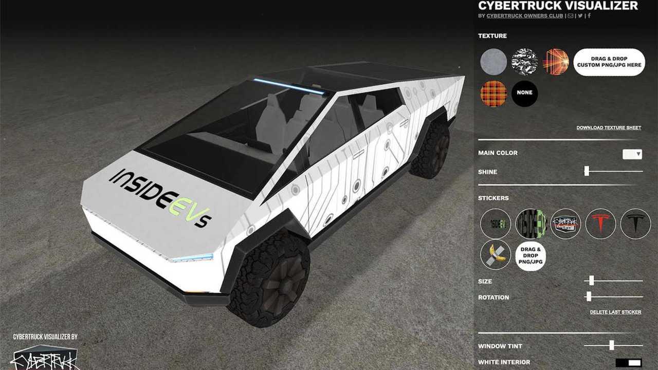 tesla cybertruck visualizer