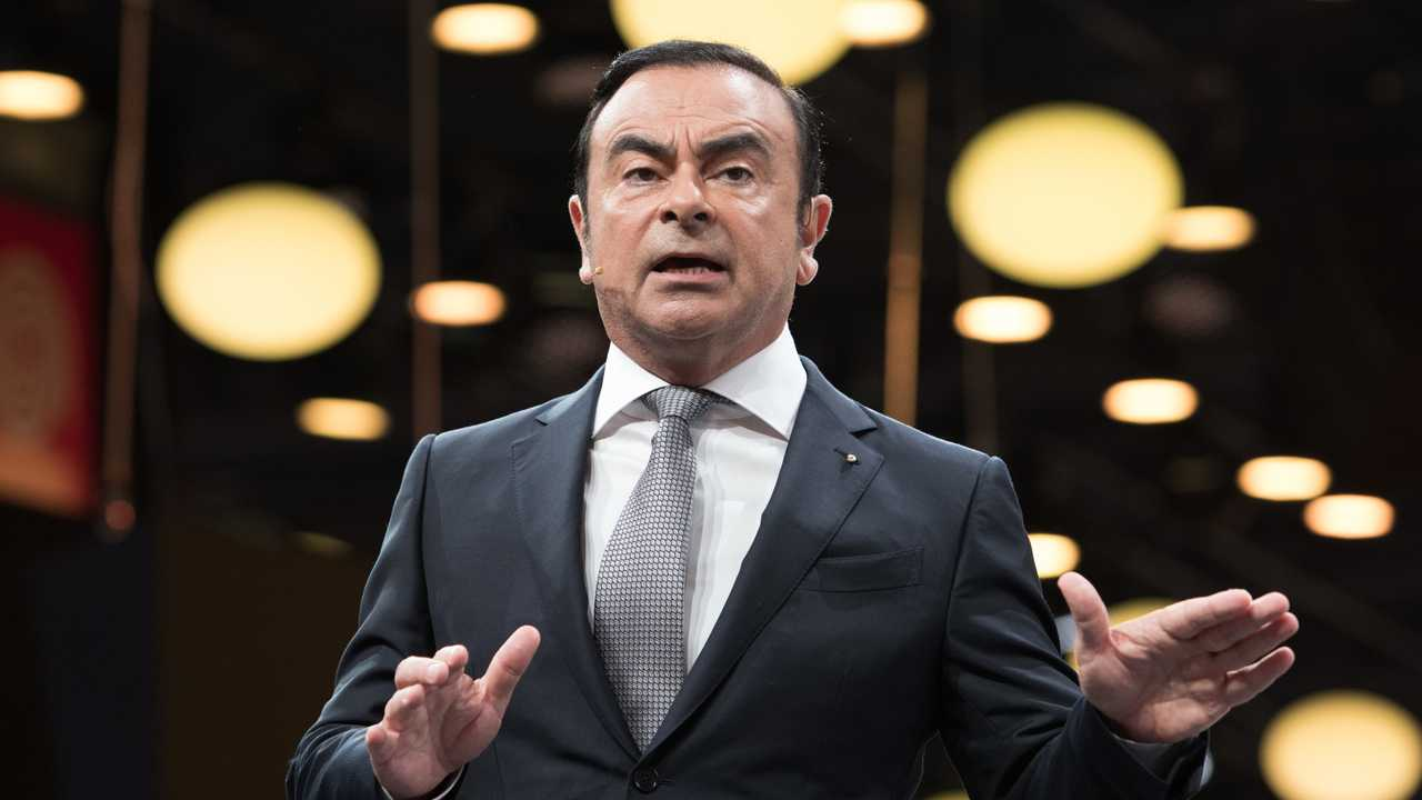 CEO Renault Nissan Carlos Ghosn at the Paris motor show