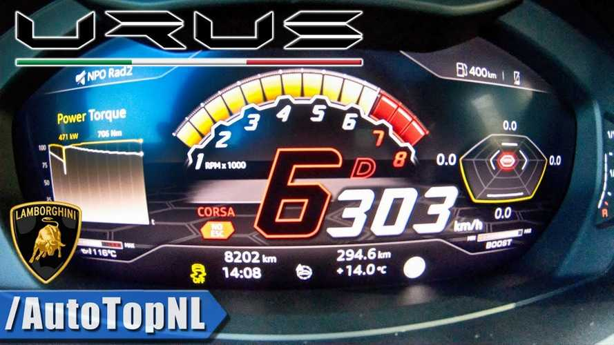 Lamborghini Urus High Speed Run Shows Amazing Acceleration