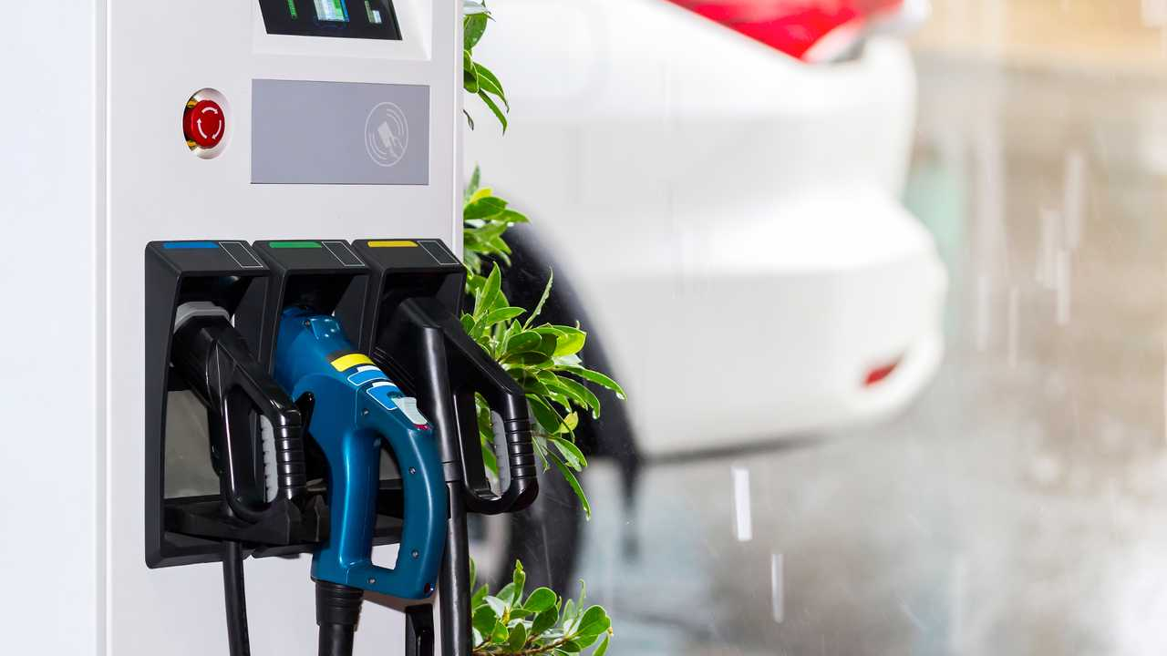 Can you plug an electric car in when it's raining?