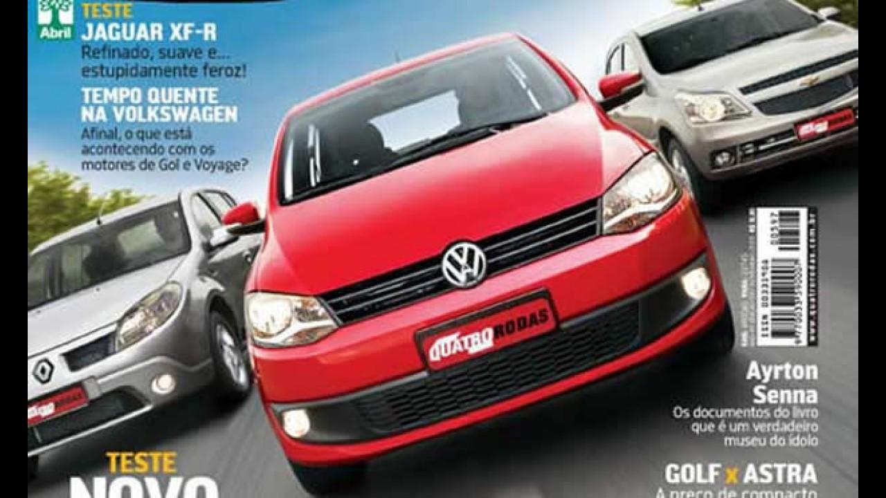 Novo VW Fox 2010 é revelado antes da hora em capa da revista Quatro Rodas