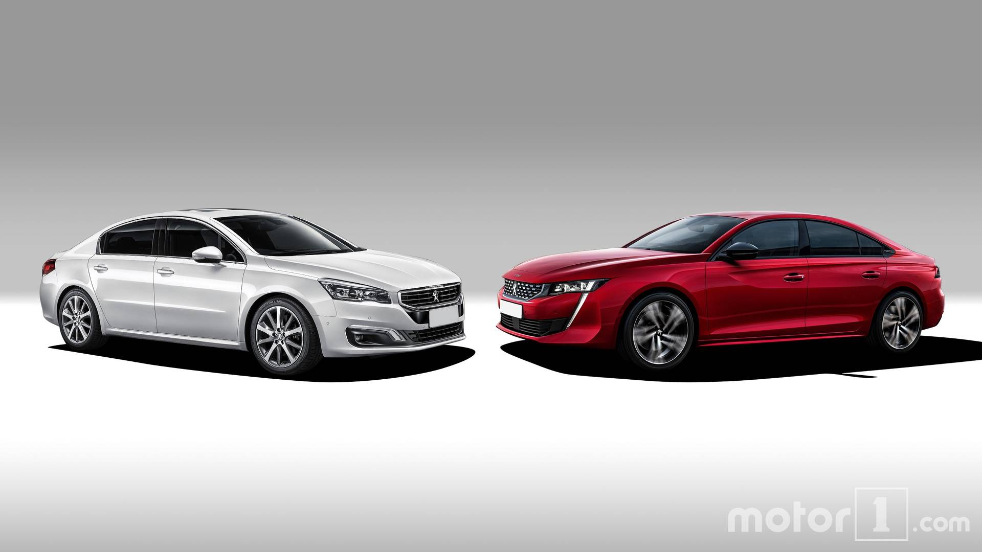 Old And New Peugeot 508 Side By Side