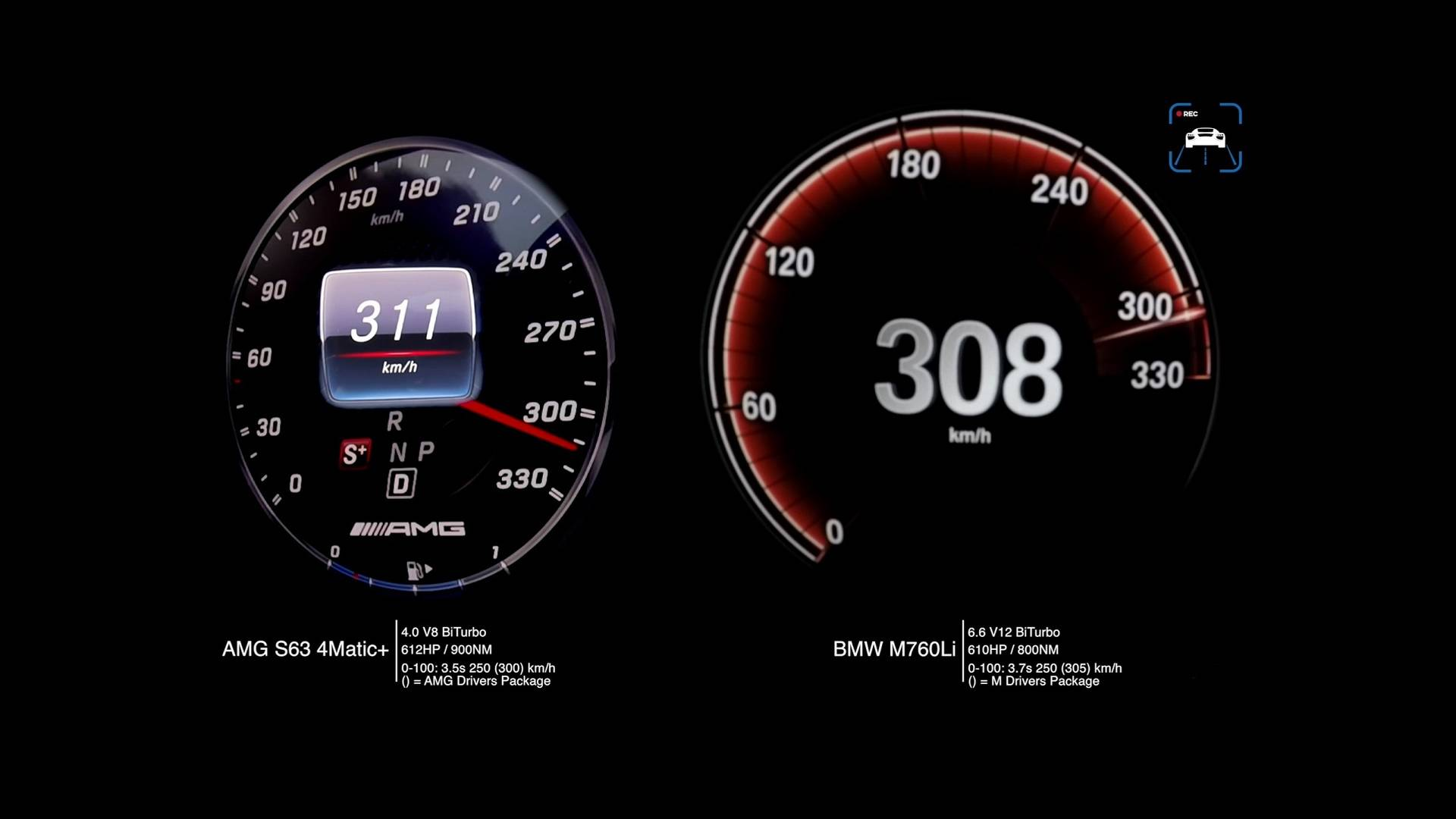 Mercedes-AMG S63 Vs  BMW M760Li In Acceleration, Top Speed Duels