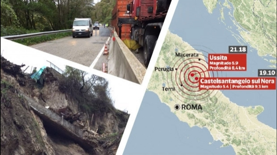 Sisma Centro Italia, ecco le strade chiuse e quelle riaperte al traffico