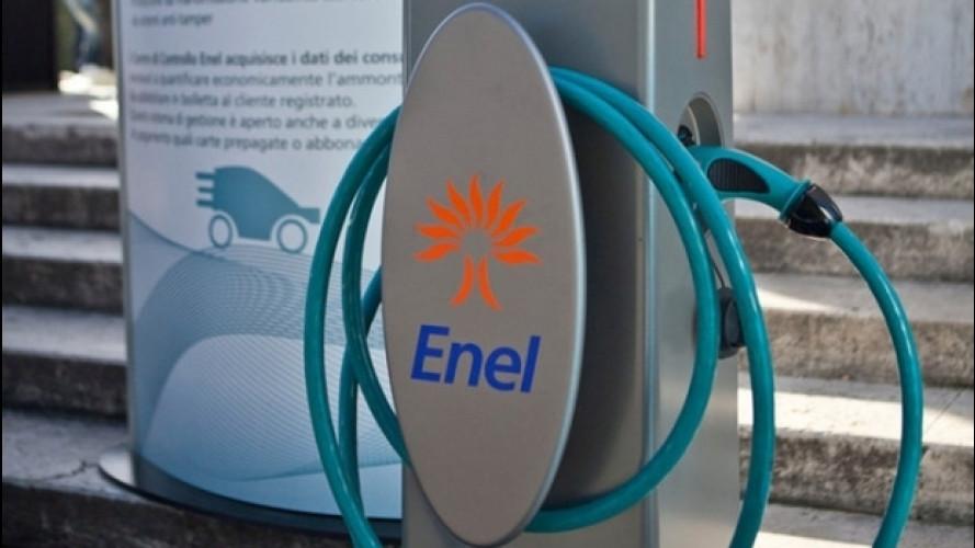 Auto elettrica, Enel investe nella rete di ricarica