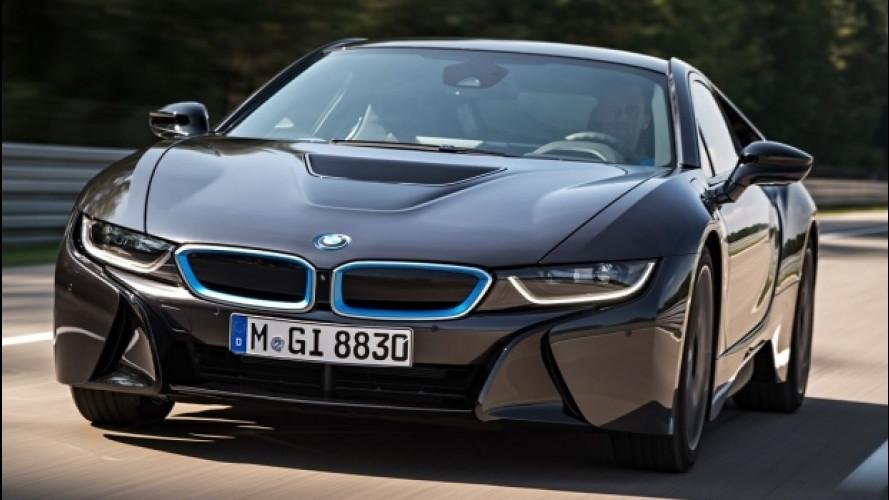 Nuova BMW i8, potrebbe avere tre motori elettrici e 750 CV