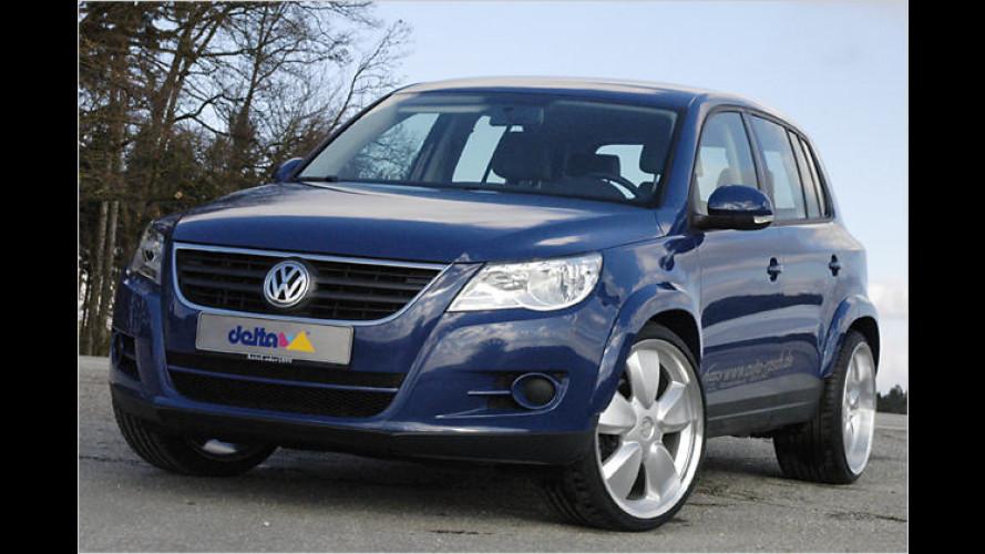 Delta4x4-Styling für VW Tiguan: Wahlweise tiefer oder höher