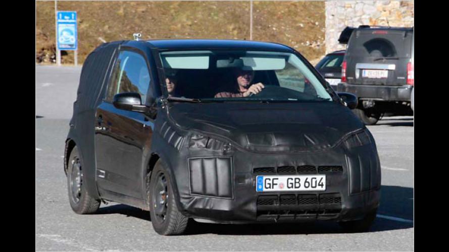 Erwischt: Hier fährt VWs Kleinster
