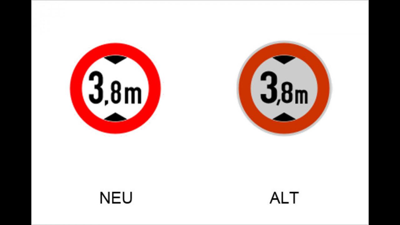 Verbot für Fahrzeuge über angegebene Höhe einschließlich Ladung