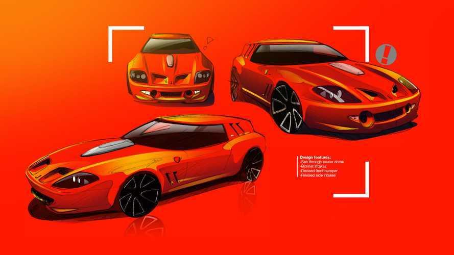 Ferrari 550 Maranello'nun Shooting Brake'e Dönüşüm Projesi