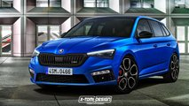Skoda Scala RS render