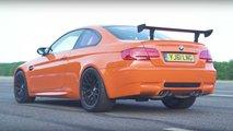 BMW E92 M3 GTS vs Audi RS4 B7 Drag Race