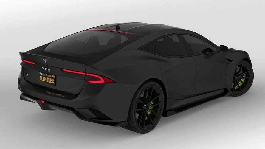 Check Out This Radically Rendered Tesla: Roadster Meets Model S