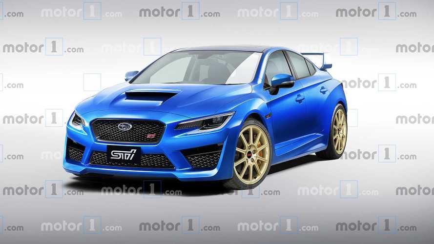 Nuova Subaru WRX STi, il rendering