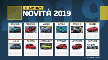 Novità auto 2019, cosa vedremo da gennaio a dicembre