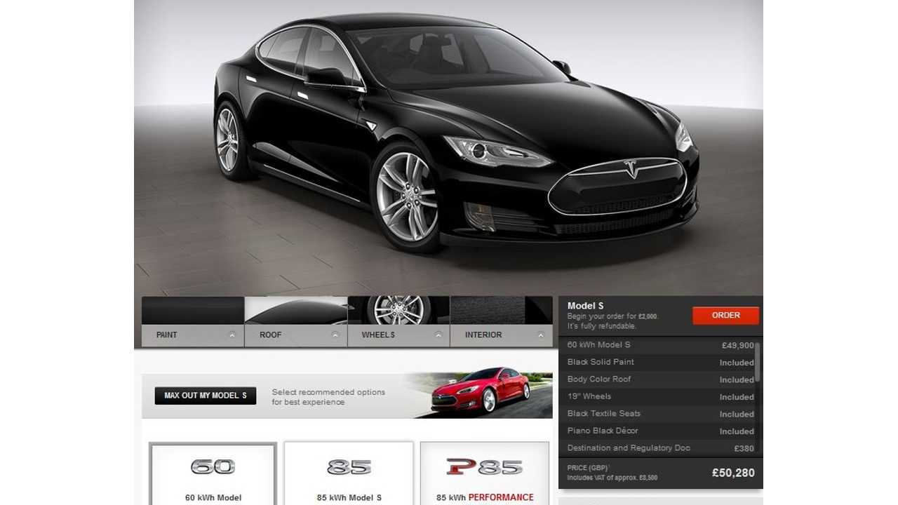 Tesla Motors Releases Pricing for Model S in UK - New Order Deliveries Scheduled for May 2014