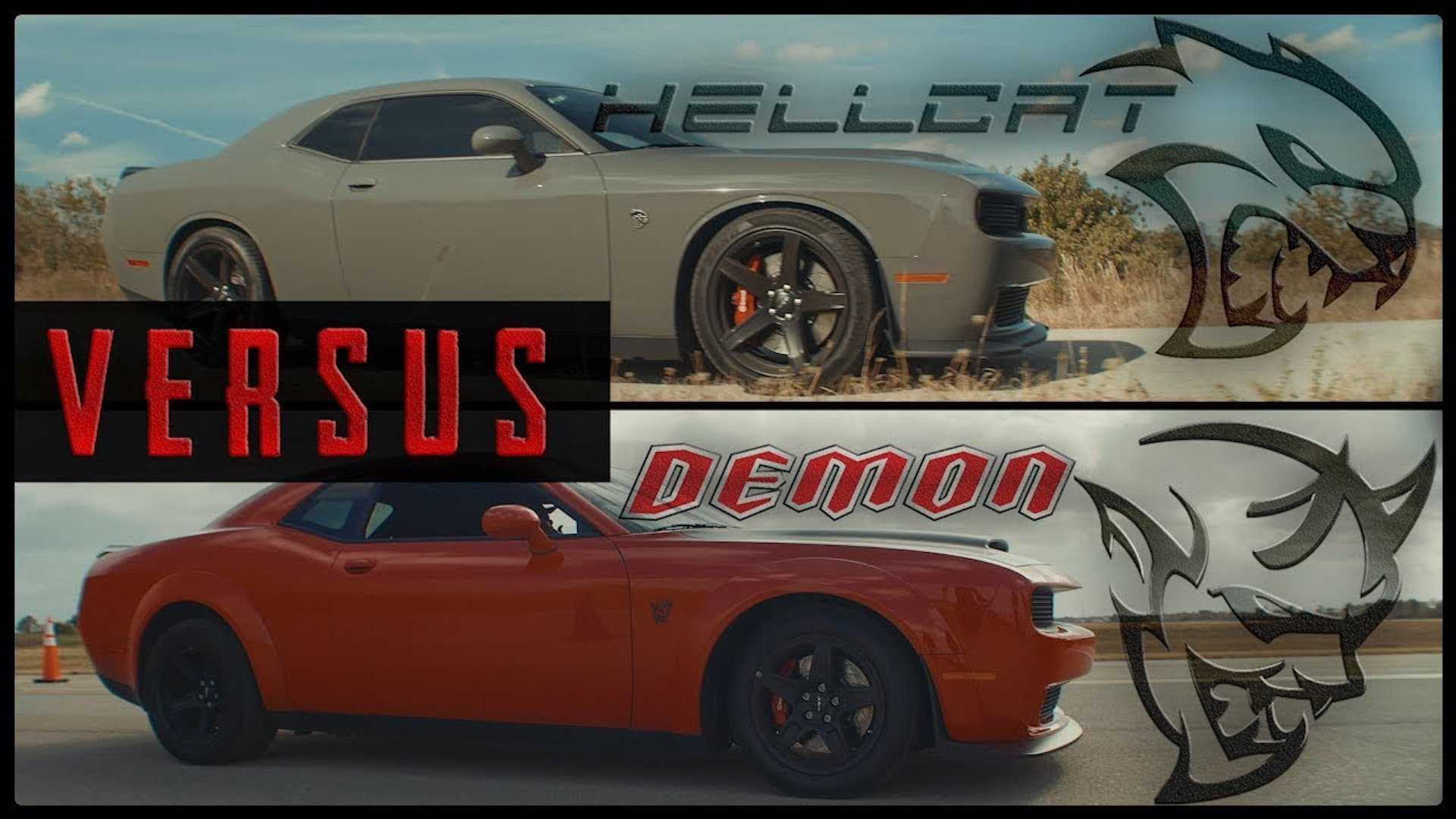Unholy Drag Race Dodge Challenger Srt Demon Vs Srt Hellcat