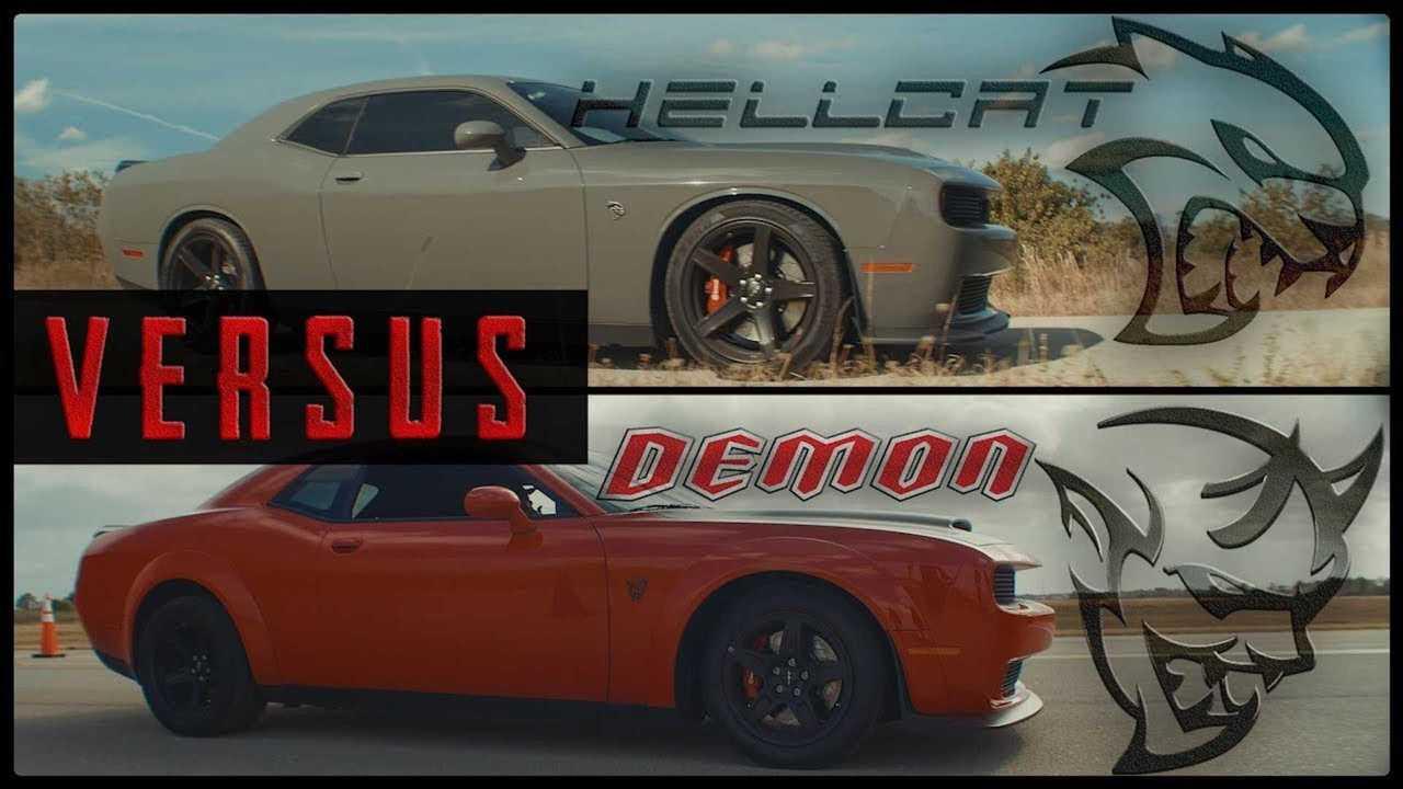 Challenger Vs Charger >> Unholy Drag Race: Dodge Challenger SRT Demon Vs SRT Hellcat