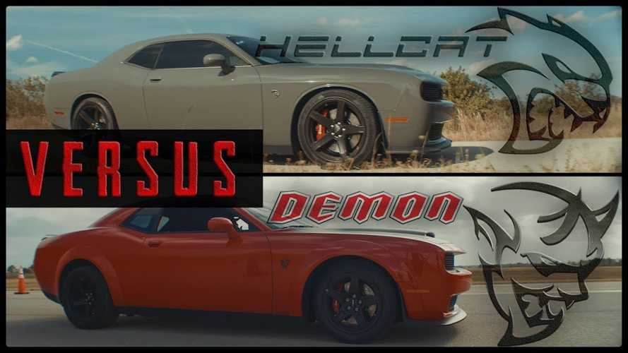 Unholy Drag Race: Dodge Challenger SRT Demon Vs SRT Hellcat