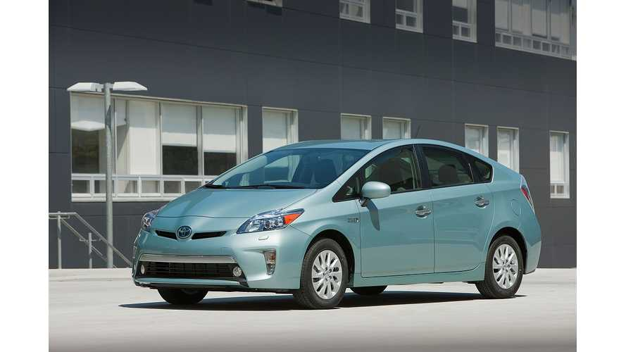 Toyota Prius Plug-In Hybrid Sales in Europe Now at 4,417 Units; Worldwide Sales Exceed 31,100
