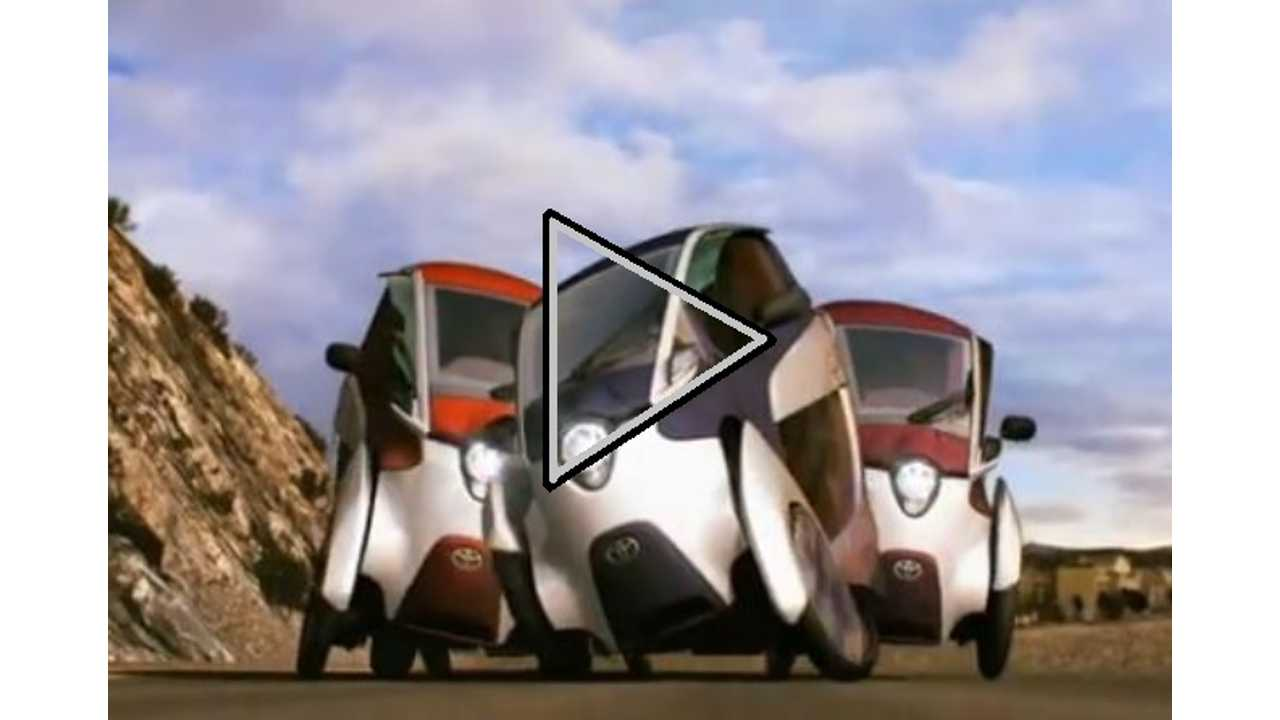 Video: Toyota i-Road Leans and Weaves Its Way Down Crowded Streets
